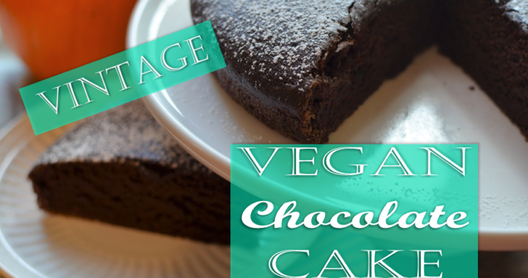 Vintage Vegan Chocolate Cake