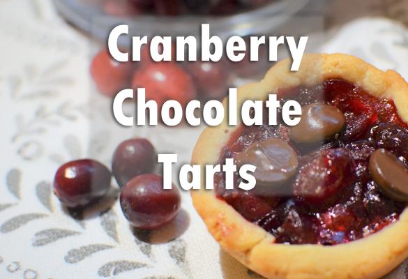 Cranberry Chocolate Tarts