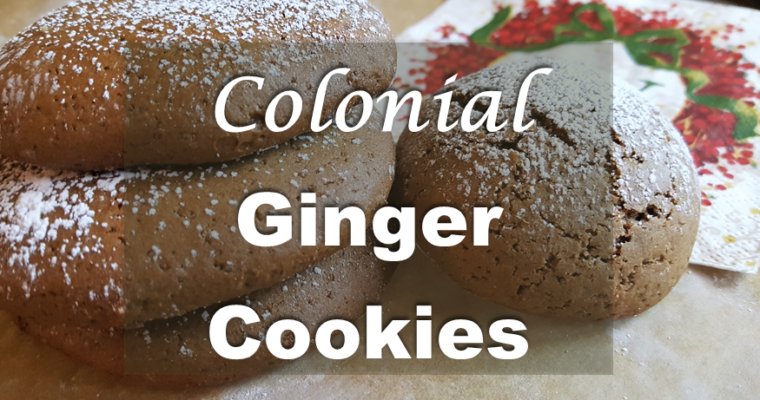 Colonial Ginger Cookies