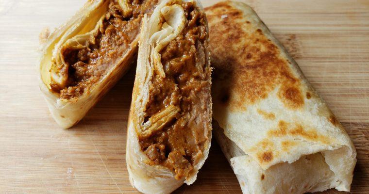 Vegetarian Beef and Bean Burritos