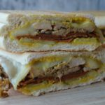 Vegetarian Cuban Sandwiches stacked