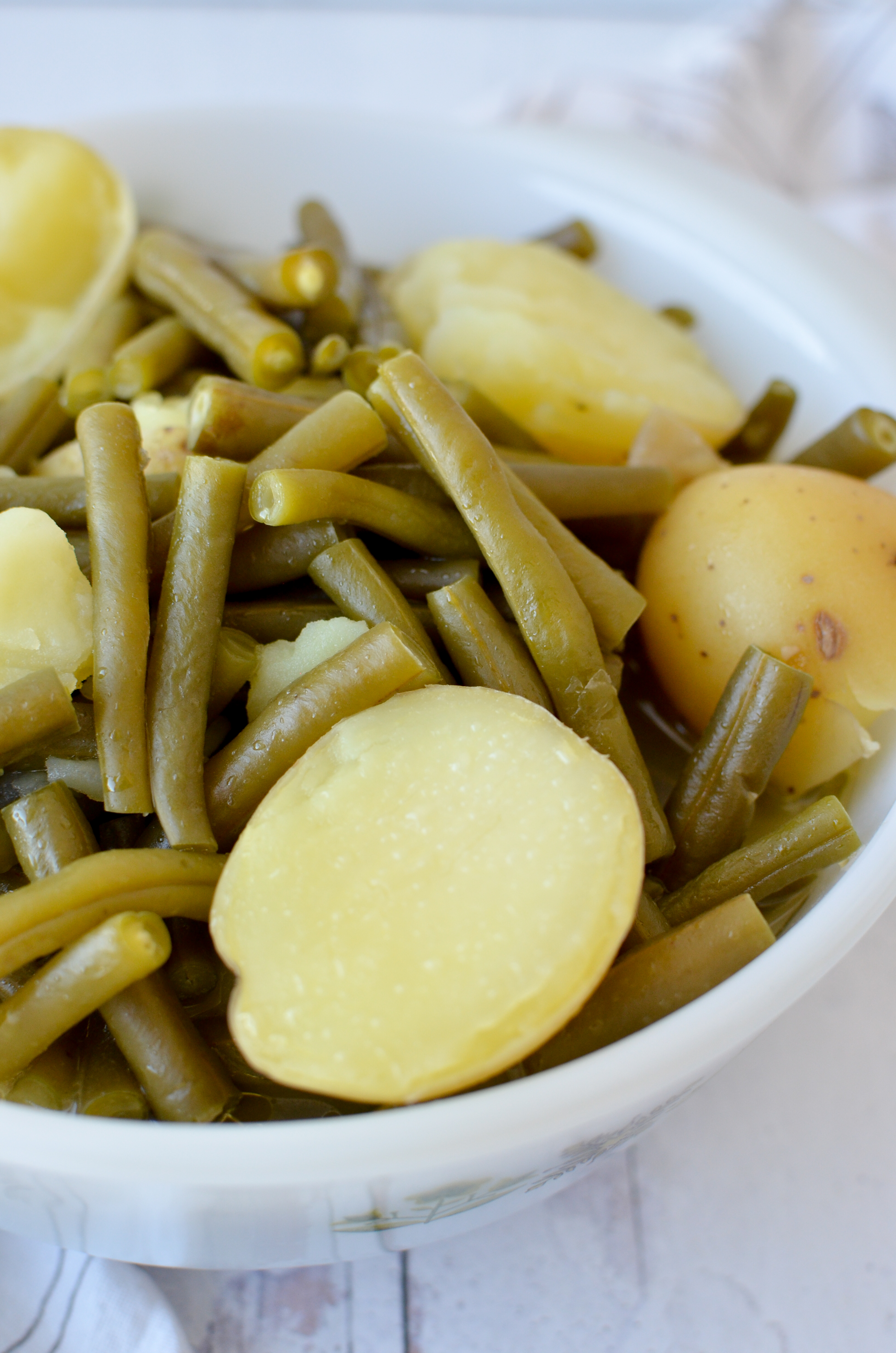 Vegetarian Southern Green Beans and New Potatoes