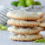 Key Lime Crinkle Sugar Cookies stacked