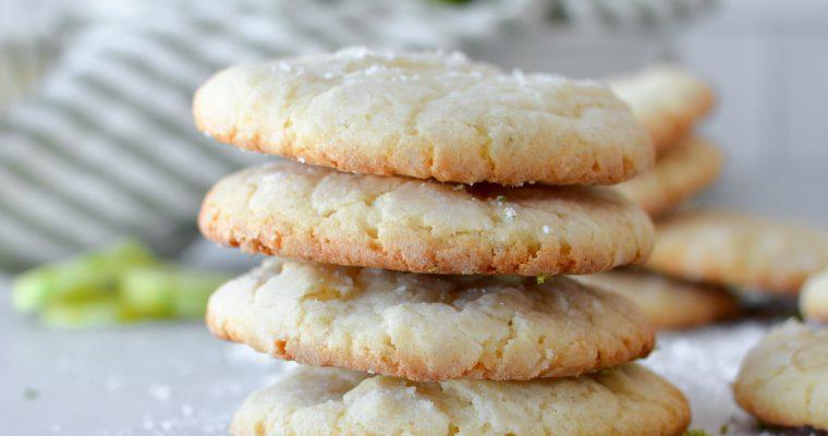 Key Lime Crinkle Sugar Cookies