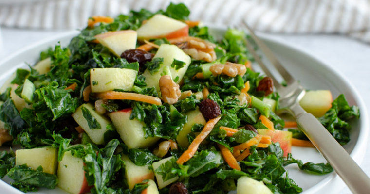 Kale and Apple Salad with Walnut Oil Vinaigrette