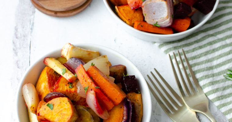 Roasted Root Vegetables with Almond Oil Marinade