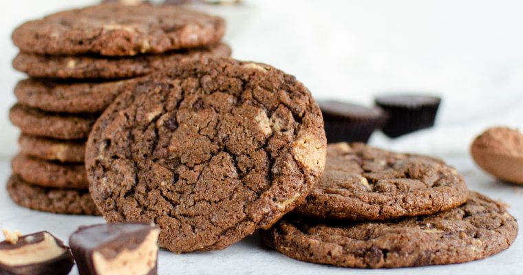 Chocolate Cookies with Peanut Butter Cups