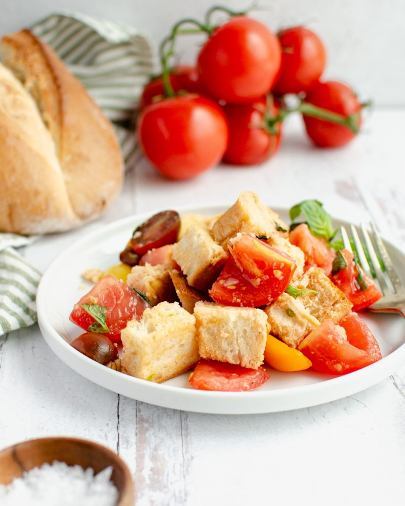 Panzanella Salad with tomatoes