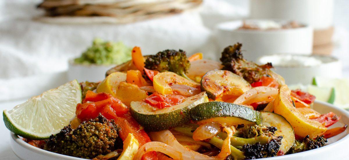 Sheet Pan Fajita Veggies