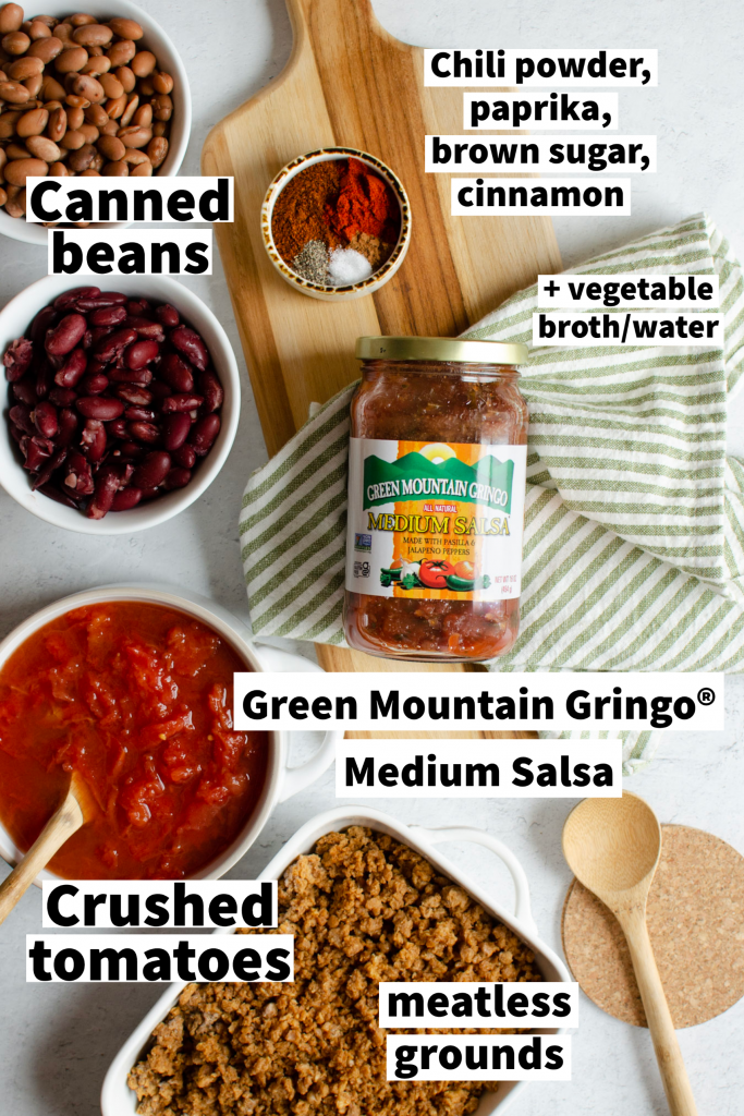 Ingredients for Game Day Chili