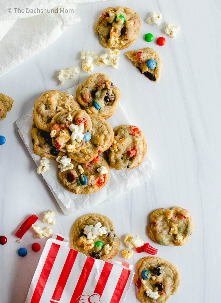 Movie Night Cookies in a pile