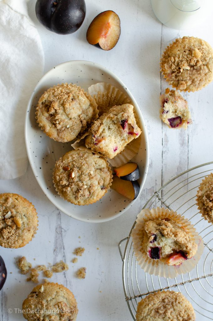 Plum muffins in a serving tray