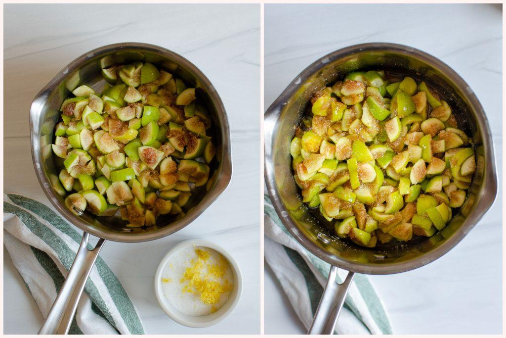Steps for making fig jam