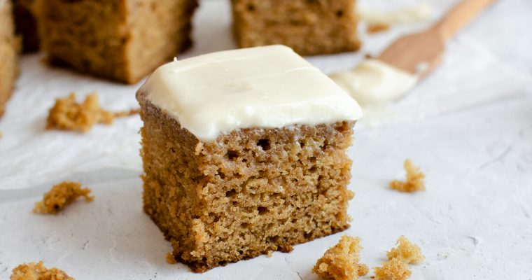 Apple Butter Snack Cake with Cream Cheese Frosting